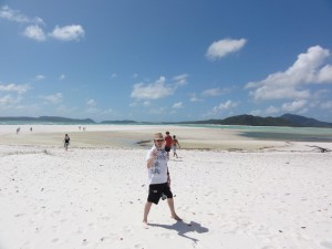 Relaxed afternoon on Whitehaven Beach