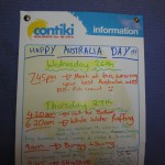 January 26, 2011 - Day sheet