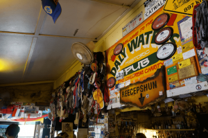 Memorabilia left at Daly Waters Pub, Australia