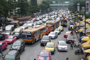 Bangkok traffic - Buses