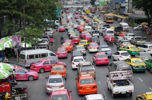 Bangkok traffic - Taxis