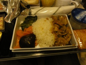 Dinner on SQ285 - January 2012