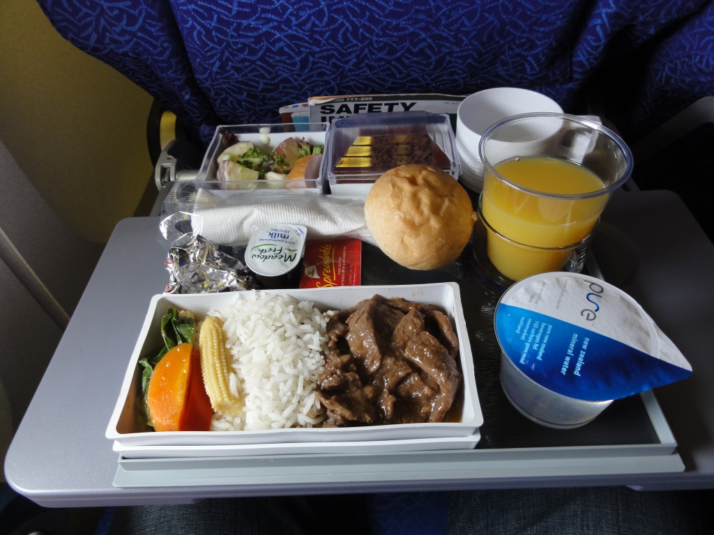 What's onboard? Singapore Airlines – Coach – Meals SQ298