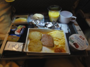 Breakfast on SQ325 - January 2012
