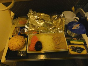 Dinner on SQ325 - January 2012