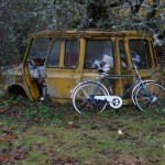 Abandon car and bicycle